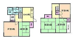 [一戸建] 大阪府豊中市千里園3丁目 の賃貸【/】の間取り
