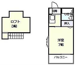 ジュネスパート2[2階]の間取り