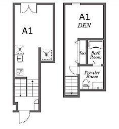 JR山手線 池袋駅 徒歩13分の賃貸アパート 1階1LDKの間取り