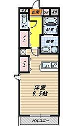 E・スクウェア森小路[8階]の間取り
