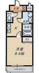 シャルム・堺[7階]の間取り