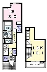 JR総武本線 都賀駅 徒歩13分の賃貸アパート 1階1LDKの間取り