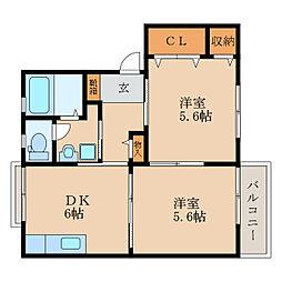 アイランド22弐番館[2階]の間取り
