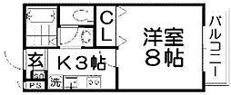 アンシャンテ香里[1階]の間取り