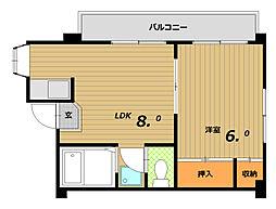ウィーズ板宿[3階]の間取り