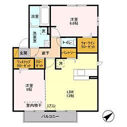 埼玉県さいたま市見沼区大字大谷の賃貸アパートの間取り