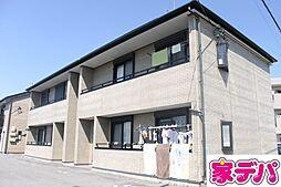 愛知県岡崎市東大友町字郷東の賃貸アパートの外観