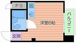 大阪府大阪市城東区成育1丁目の賃貸マンションの間取り