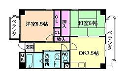 加島フラット[5階]の間取り