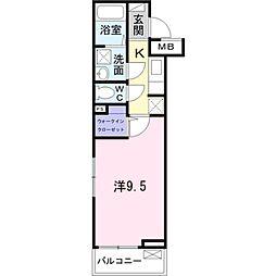 京成本線 実籾駅 徒歩8分の賃貸アパート 1階1Kの間取り