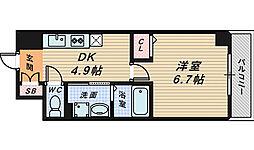 Grandir三国ヶ丘[4階]の間取り