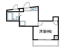 神奈川県大和市桜森2丁目の賃貸マンションの間取り