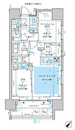 ディームス渋谷本町 7階1SLDKの間取り