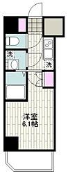 BANDOBASHI KNOTS 10階1Kの間取り