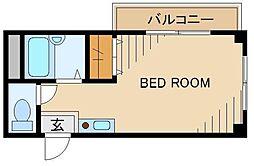 K.M.Kokubunji 3階ワンルームの間取り