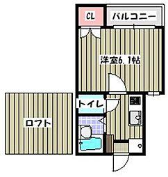 ピュア別府弐番館[203号室]の間取り