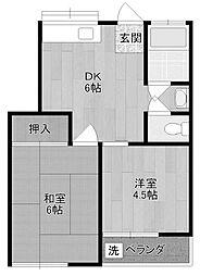 コーポ泉[2階]の間取り