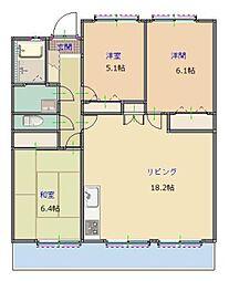 MAST筑紫通り[703号室]の間取り