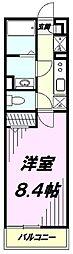 西武拝島線 武蔵砂川駅 徒歩9分の賃貸アパート 3階1Kの間取り