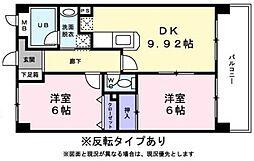 ジュネス横浜II[101号室]の間取り