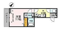 (仮)D-room美園3丁目 2階1Kの間取り