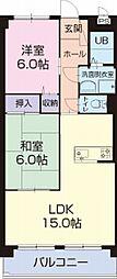 愛知県安城市東栄町5丁目の賃貸マンションの間取り