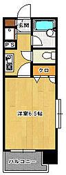 ロマネスク西新第5[10階]の間取り