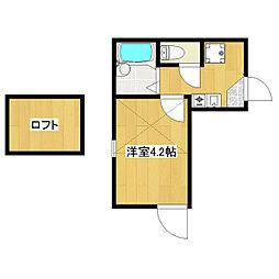東京都江戸川区北小岩3の賃貸アパートの間取り