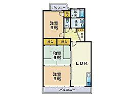 リバーサイドマンション[401号室]の間取り