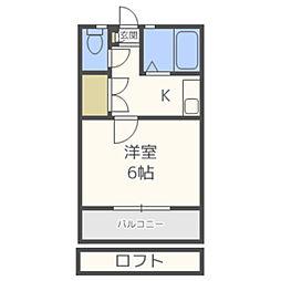 リーフ御島崎[102号室]の間取り