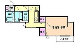 大阪府大阪市福島区吉野2丁目の賃貸アパートの間取り
