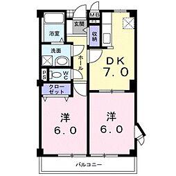 埼玉県八潮市八潮8の賃貸アパートの間取り