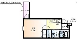 Osaka Metro谷町線 太子橋今市駅 徒歩5分の賃貸アパート 2階1Kの間取り