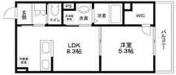 (仮称)大田区南雪谷2丁目計画 3階1LDKの間取り
