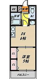 キャッスル山本[2階]の間取り
