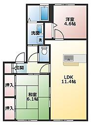 サンハイツ加古川II[1階]の間取り