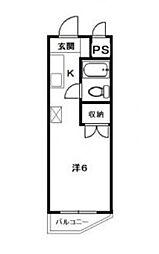 神奈川県厚木市妻田北3丁目の賃貸マンションの間取り