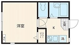 K-house 練馬高野台II 1階1Kの間取り