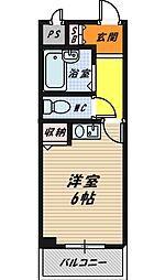 ピュアハイツ[402号室]の間取り