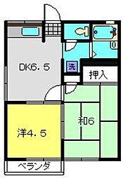 ミノルハイツA[2階]の間取り