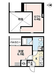 Osaka Metro千日前線 南巽駅 徒歩7分の賃貸アパート 1階1Kの間取り