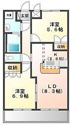 コンフォースMIYA[2階]の間取り