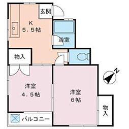 渡辺ハイツ[2階]の間取り