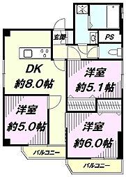 ニュークリードマンション[401号室]の間取り