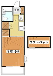ドリームコーポ[2階]の間取り