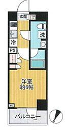 ベルグレード川崎AZ 3階1Kの間取り