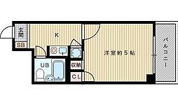 トーカン東淀川キャステール[9階]の間取り