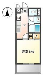 愛知県豊田市豊栄町2丁目の賃貸アパートの間取り