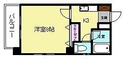 サンコート秋穂[201号室]の間取り