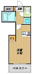 アネックス神戸[3階]の間取り